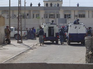 6. Iraqi police armoured Land Rovers