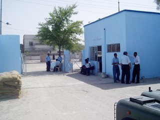9. A visting we will go - in the yard of an Iraqi police station