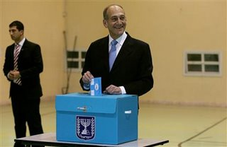 Ehud Olmert - ahead on the exit poll