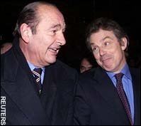 Blair and Chirac at St Malo in 1998
