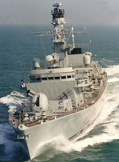 HMS Marlborough, a Type 23 Frigate, to which the 2087 Sonar will be fitted.