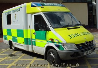 German ambulances for English authorities - what about the (English) workers?