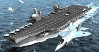 An artist's impression of the new British carrier design - is this all we are going to get?