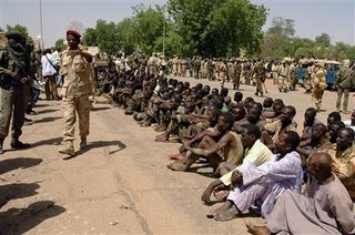 Rebel prisoners in Chad after their failed invasion