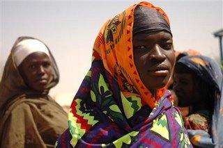 Some of the 200,000 refugees in Chad, the fate of whom depend on the outcome of the AU negotiations