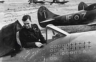 Pierre Clostermann in the cockpit of the fighter in which he made his name - the Hawker Tempest