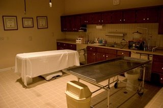An embalming room - soon to be obsolete under EU law?