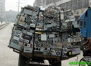 Discared computers on their way to 'recycling' in China