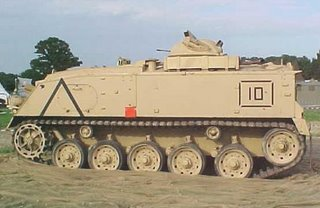An FV432 - a 60s vehicle, to be up-armoured and upgraded