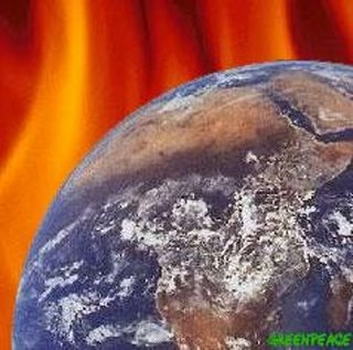 A Greenpeace graphic, purportedly depicting the perils of global warming