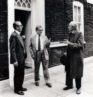Lord Harris with Arthur Seldon and Friedrich Hayek