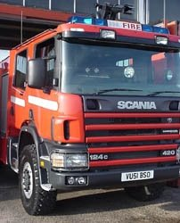 A Scania fire truck - what's wrong with Dennis?