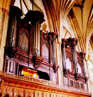 The organ at Bristol Cathedral