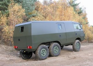 The Armoured Pinzgauer - a balance of protection, mobility and risk