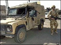 A Land Rover 'Snatch' in Iraq