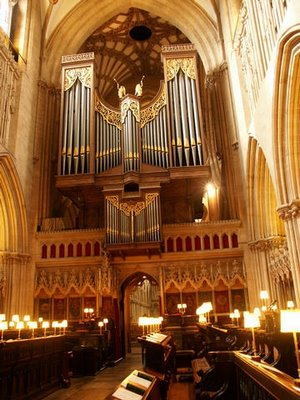 The organ at Wells Cathedral