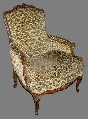 fauteuil estampillé C.L.BURGAT et CLBG