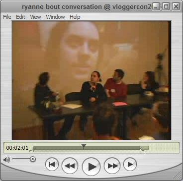 Ryanne talking about conversation in vlogging.