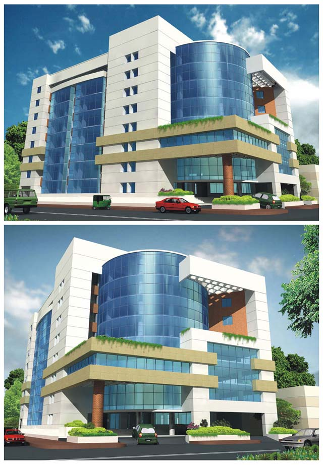Architectural projects of hafizul haque may 2006 for Exterior design for commercial buildings