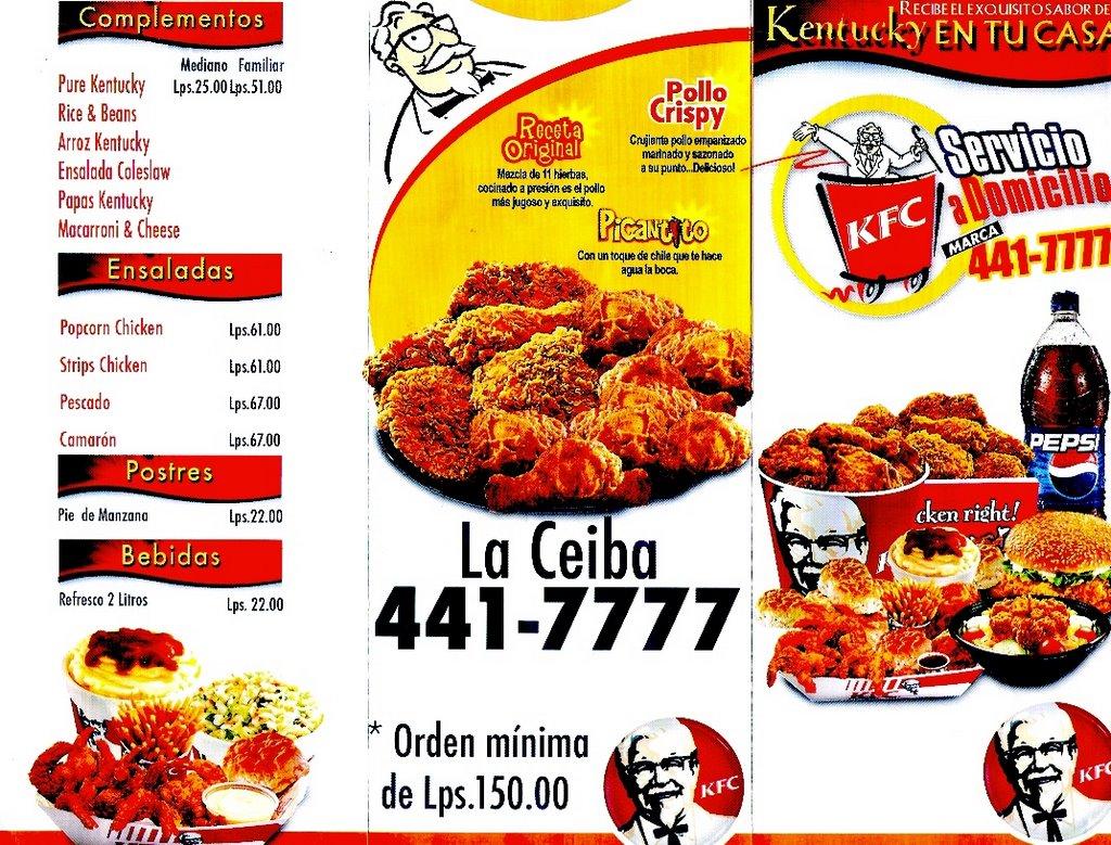 kentucky fried chicken menu
