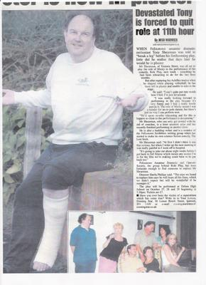 Click here to read the Evening Star Article about Tony's Accident.