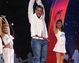 O cantante Ramón en Eurovisión