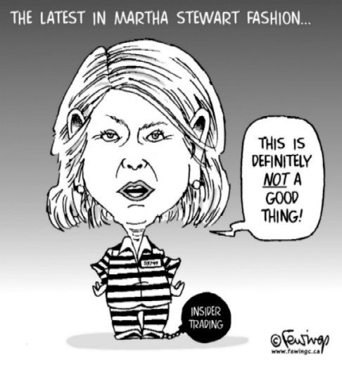 martha stewart insider trading