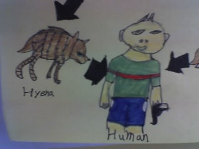 hyena eats man with gun