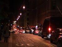 Traffic jam at midnight