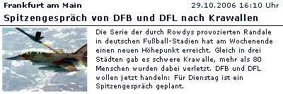 Spitzengespraech DFB DFL Krawalle