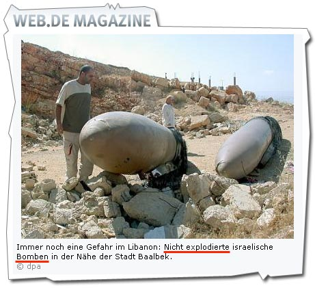 Angeblich israelische Bomben