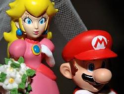 Super Mario Hochzeitstorte Brautpaar