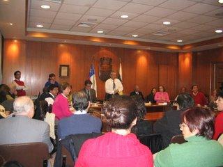 Audiencia con al Alcalde y concejales