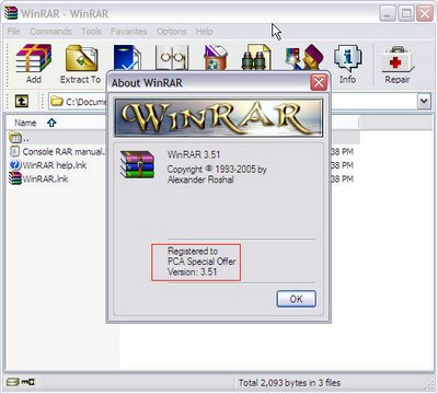 WinRAR free license