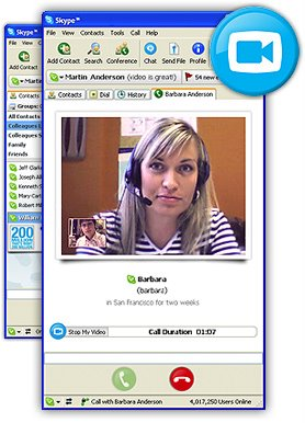 Skype 2 with video calling