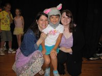 Rachel with Jessica and teacher Lori Santos of the Naples Community Theatre