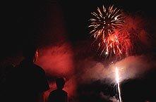 Fireworks off the Naples Pier - courtesy naplesnews.com