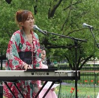 Amica performing in LaFayette Park, April 22, 2006