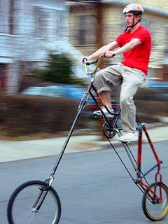 Jake Horowitz on his hybrid bike