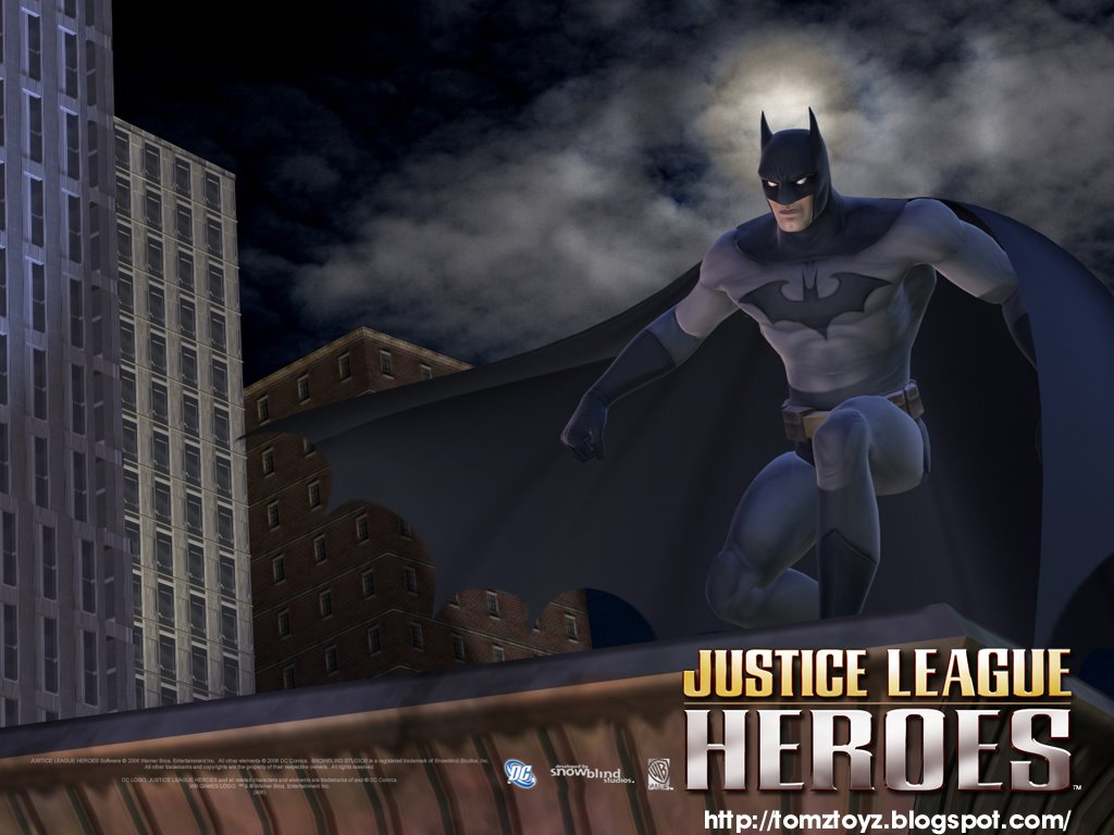 JUSTICE LEAGUE HEROES Video Game WALLPAPER XBOX Playstation 2
