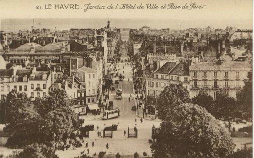 Photos historiques du réseau havrais (bus, tram, funi...) Jardin%20et%20la%20rue%20de%20paris