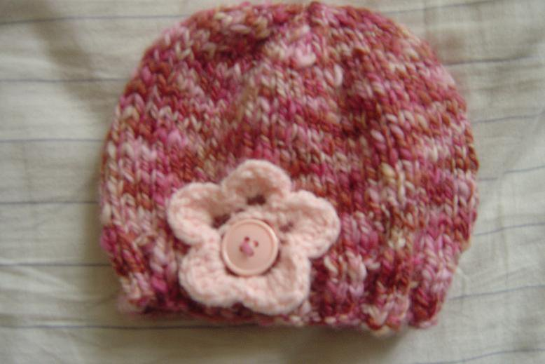 Free Crochet Flower Patterns For Baby Hats : Free Patterns: Knit Baby Hat