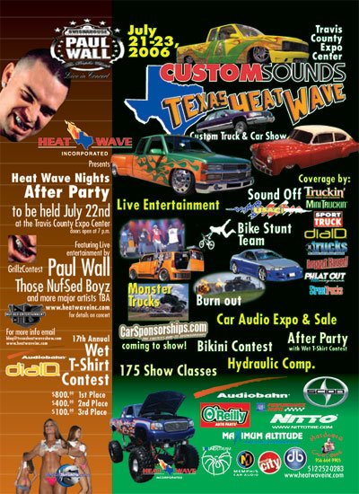 Austin HipHop Scene July - Travis county expo center car show