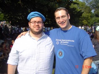 Ben Greenberg and Drew Kaplan at rally for Darfur in NYC on 17 September 2006