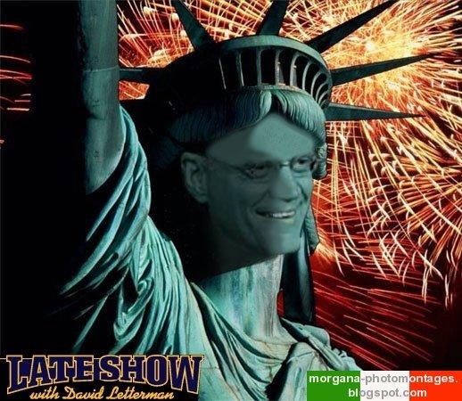 David Letterman Statue of Liberty