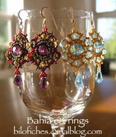 french beaded earrings