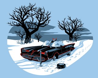 lostwheel Batmobiles lost its wheel! xmas X Mas Humor Comic Books