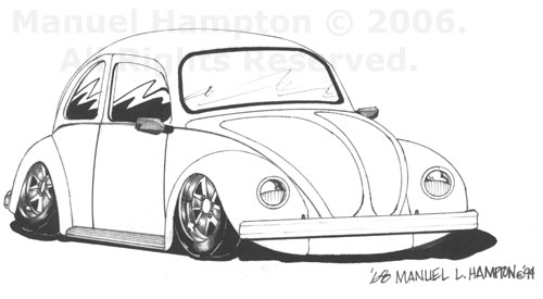 vw bug outline pictures to pin on pinterest