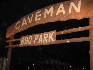 Entrance to Caveman BBQ