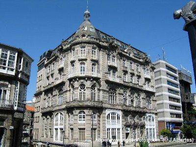 Arquitectura y urbanismo de vigo edificio el moderno for Arquitectura eclectica